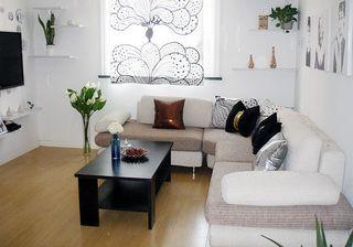小户型简约北欧风一居室装修效果图