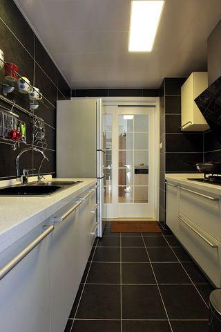黑色現代時尚廚房效果圖