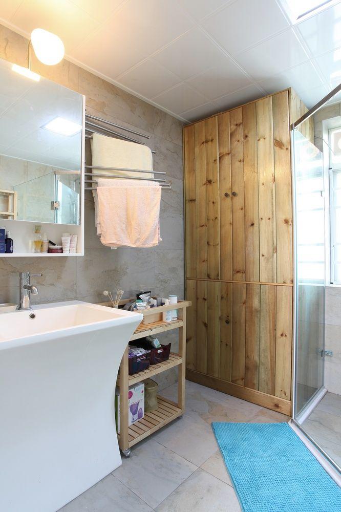 简约宜家风格原木浴室效果图
