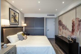 中式水墨画卧室背景墙设计图