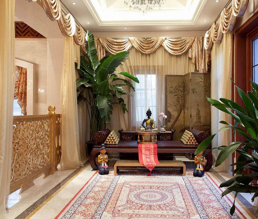 东南亚豪华风格设计别墅室内装潢案例图
