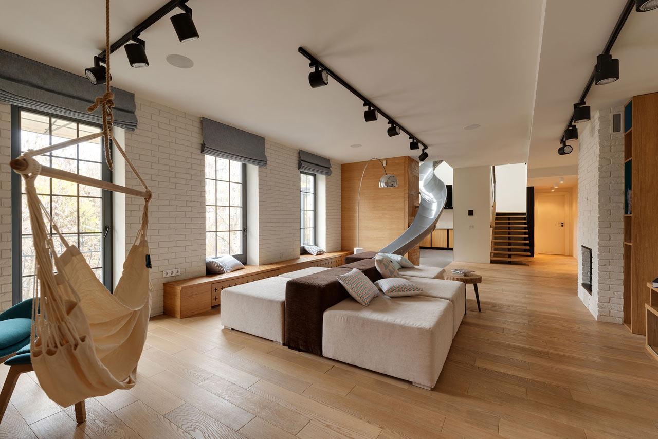 时尚格调日式复式楼客厅效果图