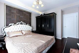 黑色新古典欧式风格卧室衣柜效果图