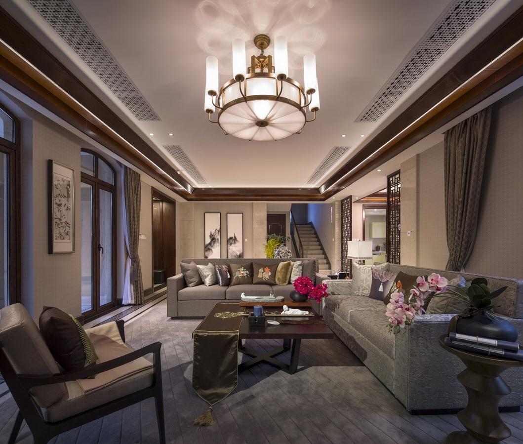 奢华大气新古典客厅吊顶效果图