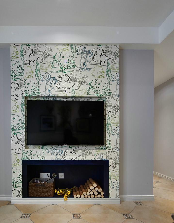 北欧风格现代家居电视背景墙效果图片