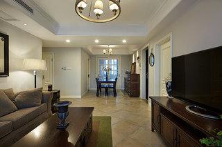 110平米复古文艺美式三居装修案例