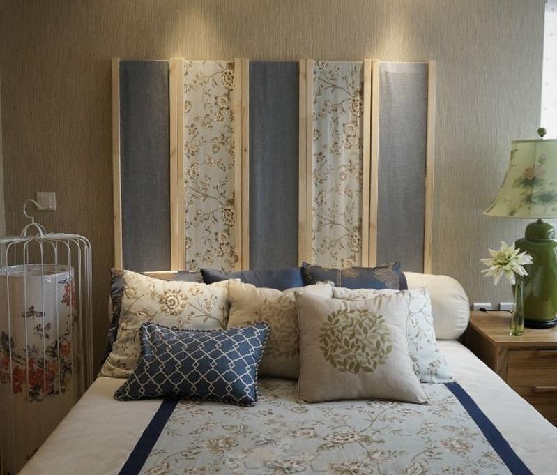 浪漫美式卧室背景墙装修效果图