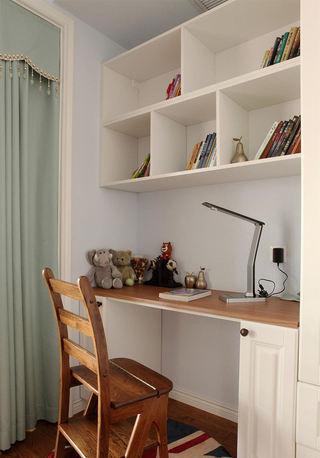 简约宜家书房白色书桌效果图