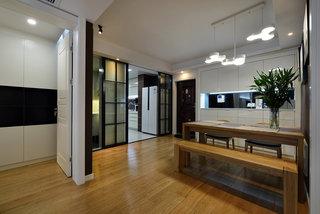 现代简约风格实木餐厅设计装修案例图