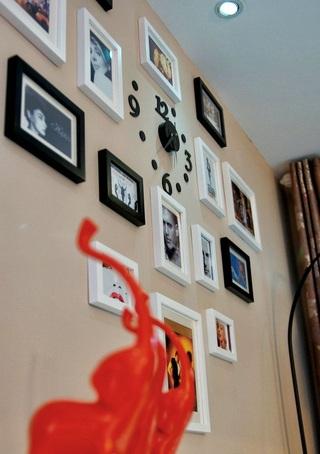 现代简约风格多组相片墙效果图
