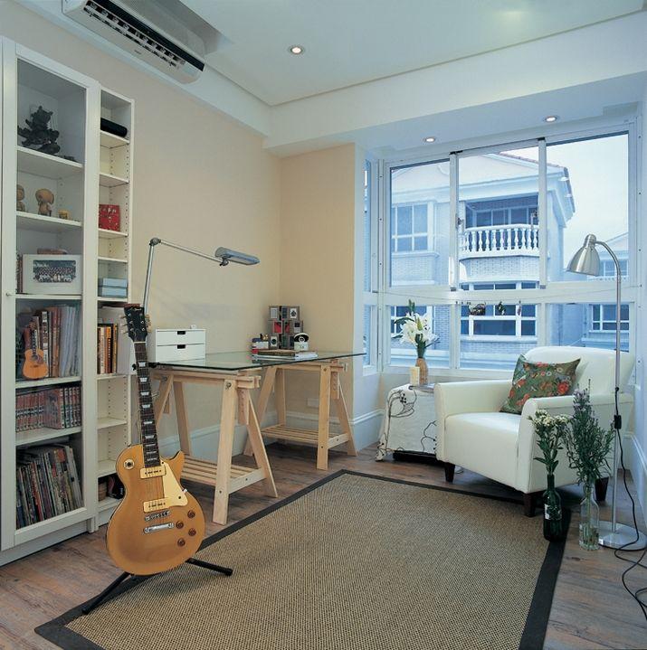 现代简约北欧风二居室跃层装修效果图