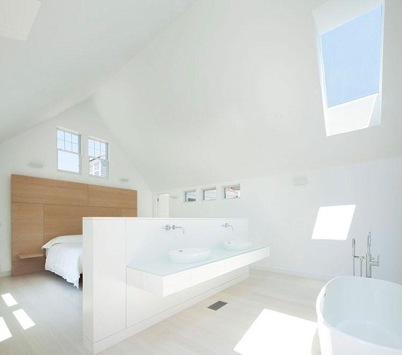 超简洁创意阁楼洗手间效果图
