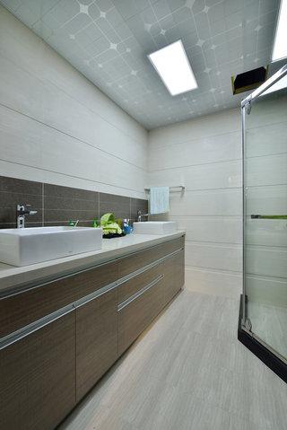 简约素雅的后现代洗手间效果图