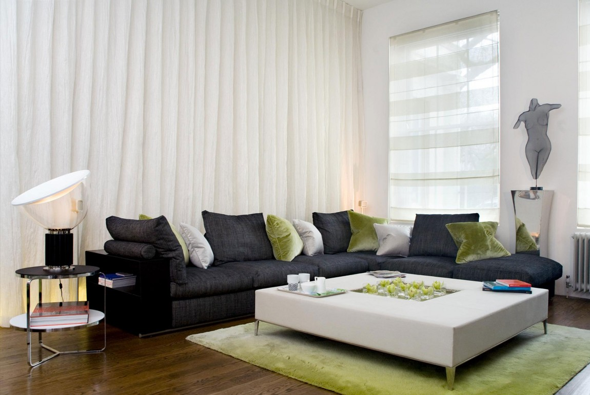 现代简约风格家装客厅窗帘搭配效果图片