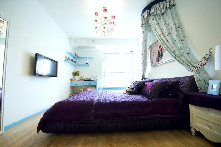 蓝色地中海风格卧室装修效果图