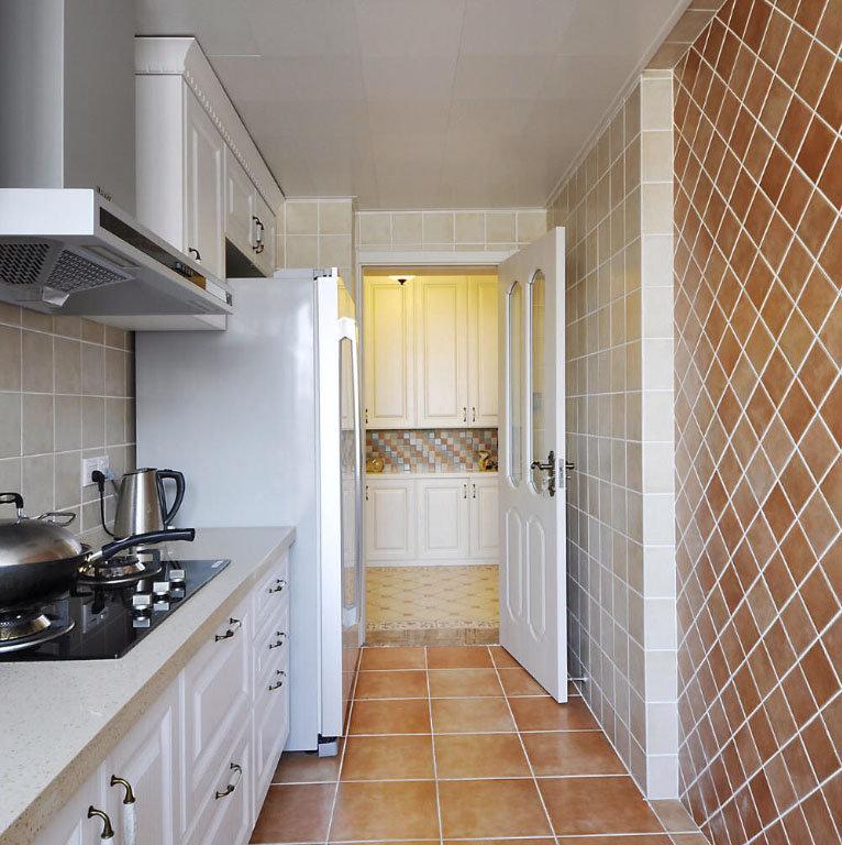 现代美式瓷砖混搭厨房