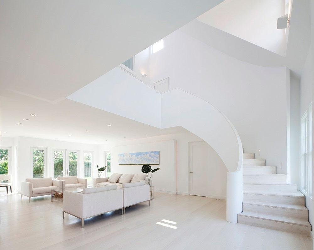 超纯净转角楼梯复式楼效果图