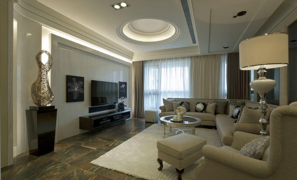 古典二居室客厅卧室餐厅效果图