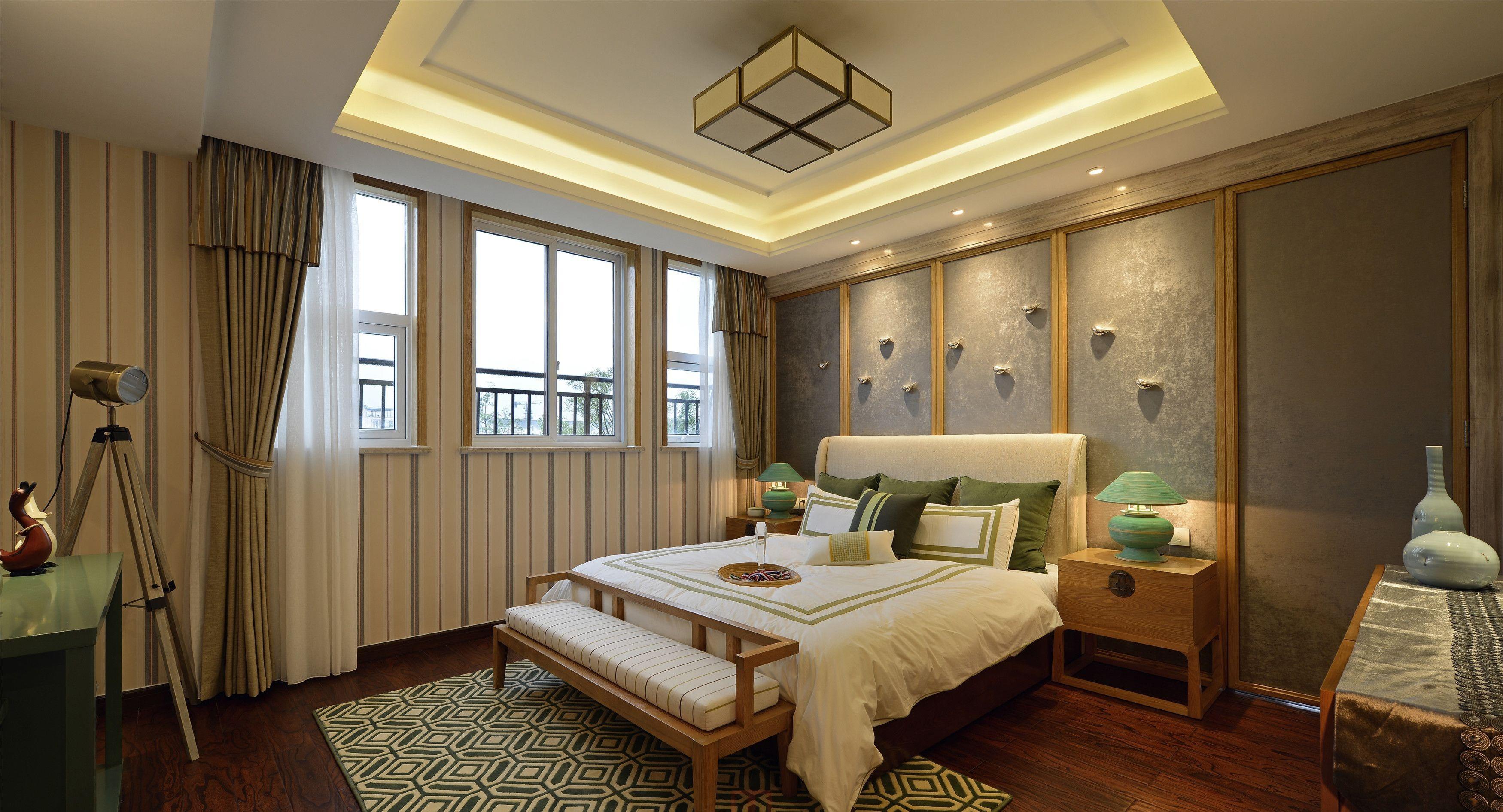 新中式卧室设计装饰效果图