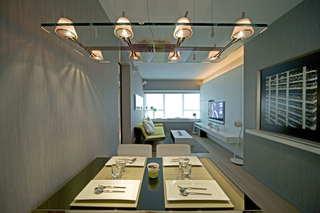 简约餐厅时尚玻璃吊灯效果图