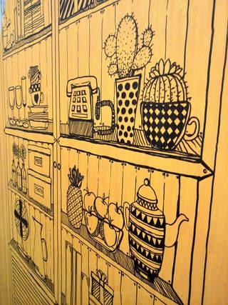 温馨餐厅背景墙效果图